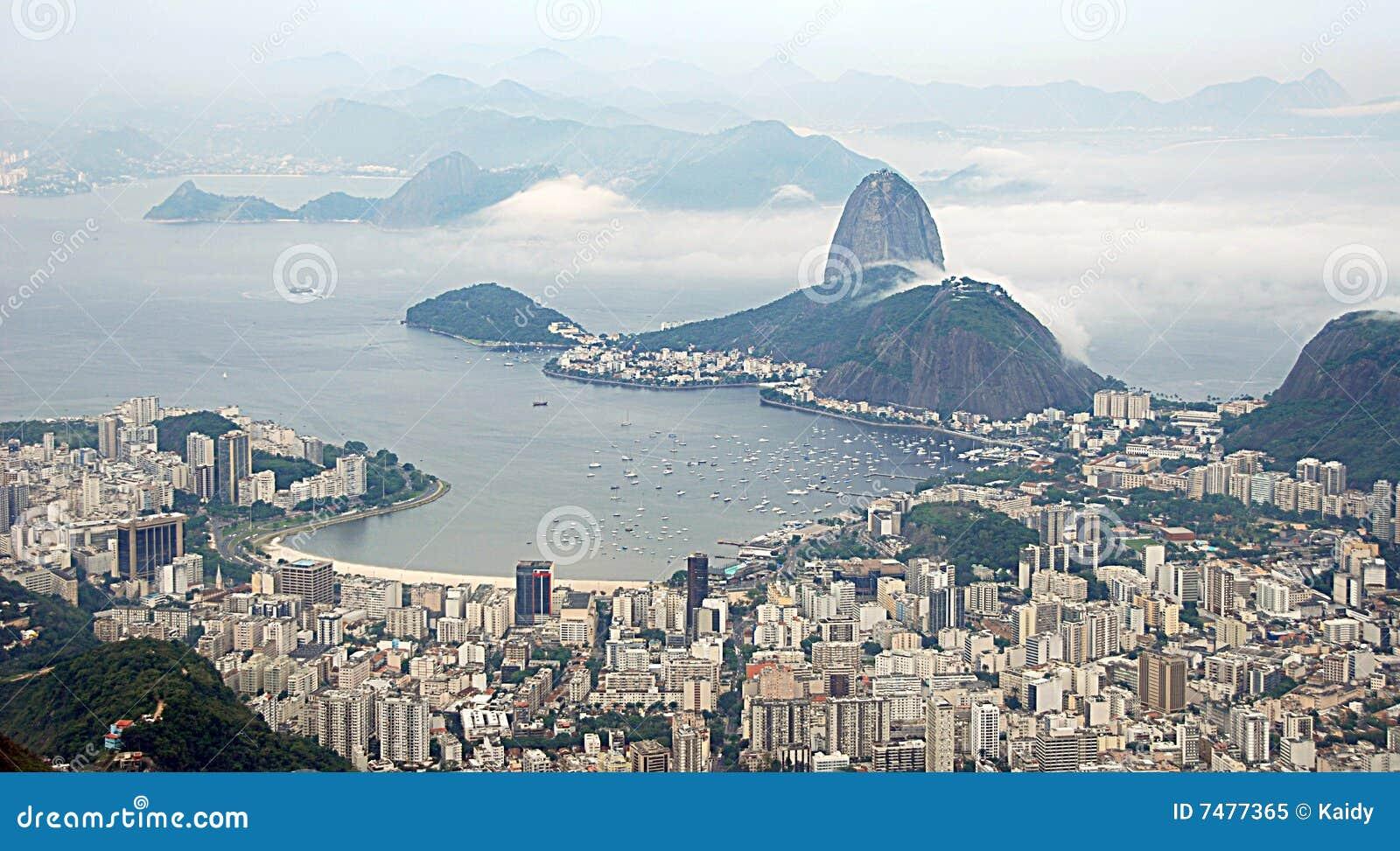 Paesaggio urbano della baia di Guanabara