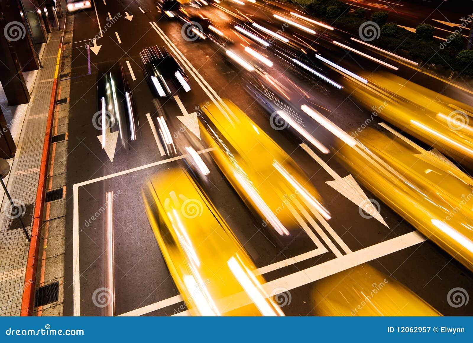 Paesaggio urbano delle automobili