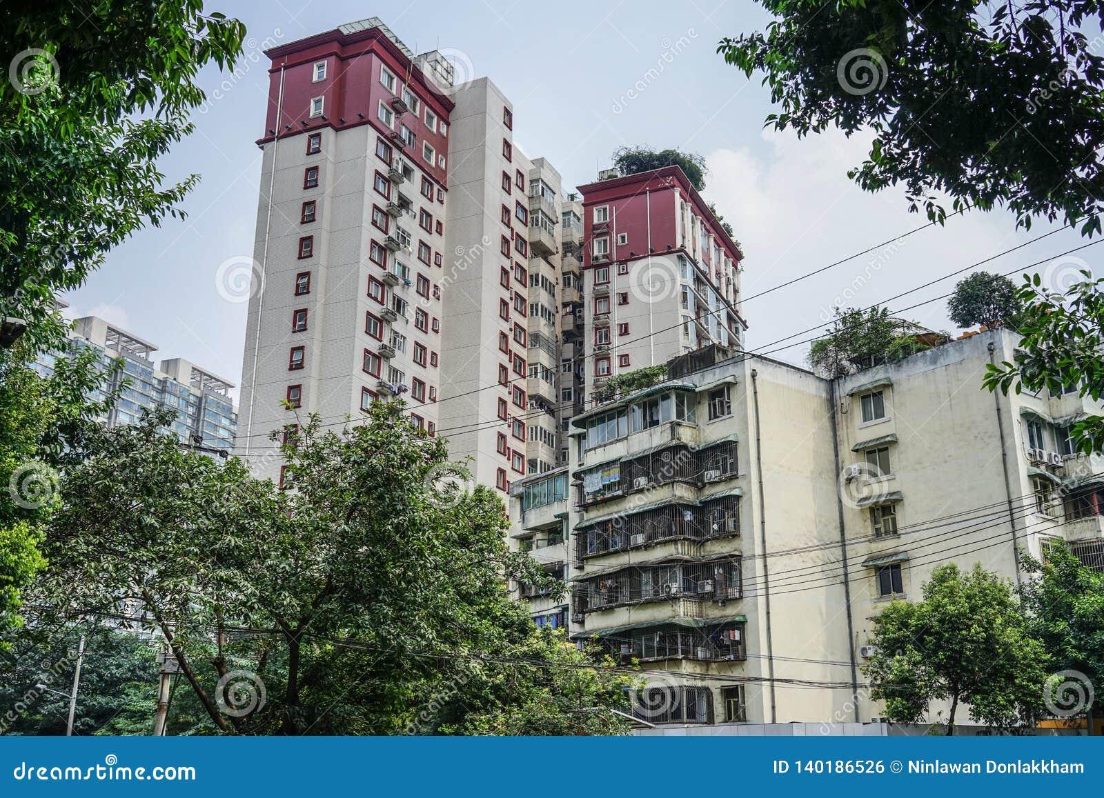Paesaggio urbano di Chengdu, Cina