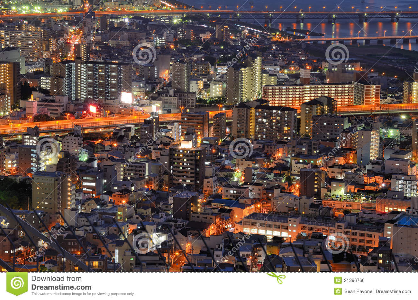 Paesaggio urbano di Osaka