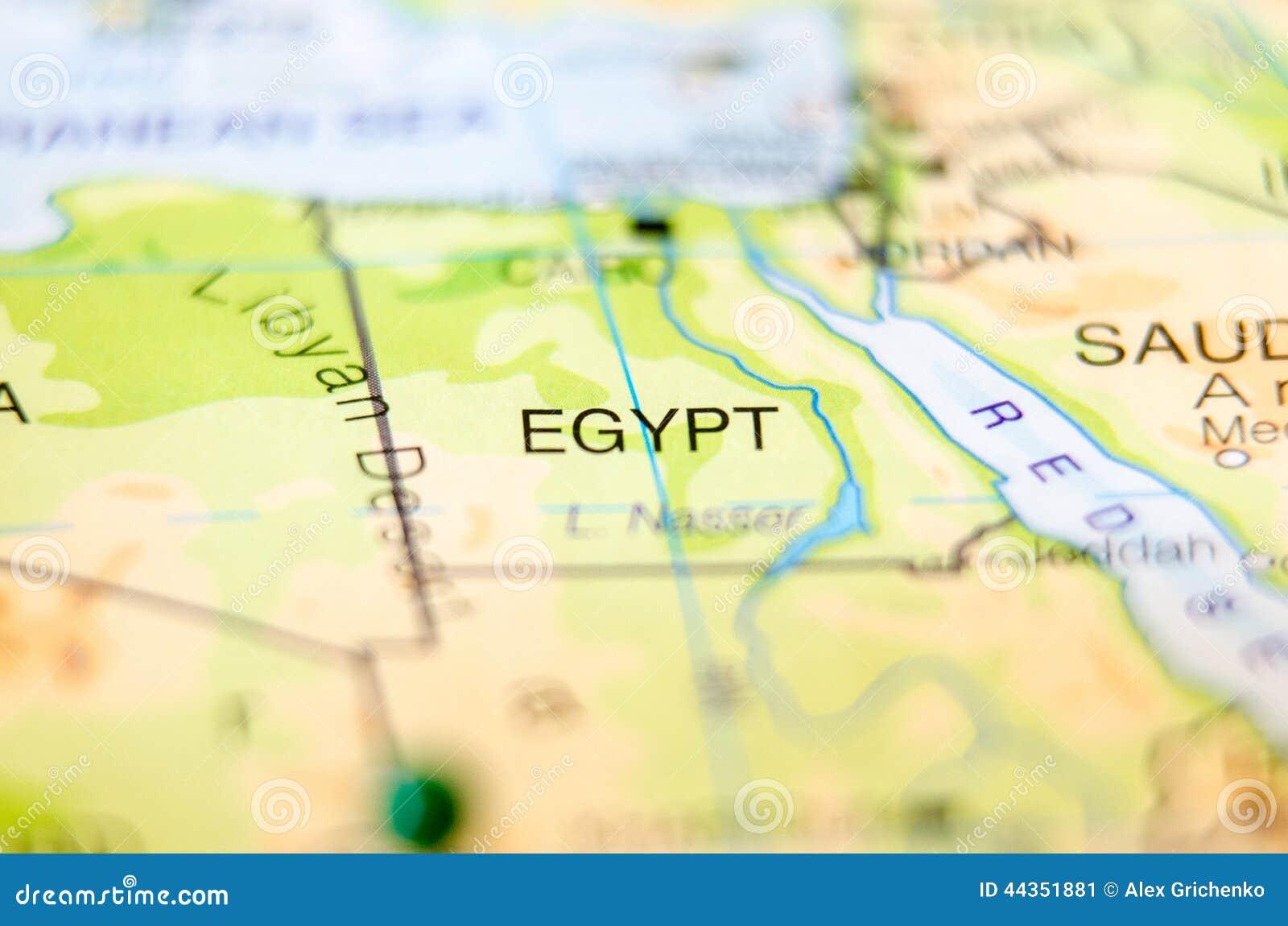 Paese dell Egitto sulla mappa