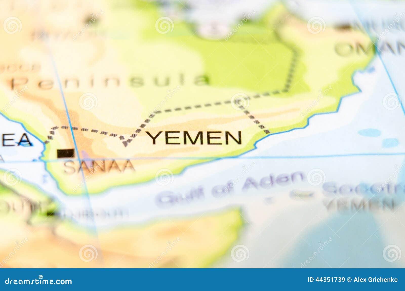 Paese dell Yemen sulla mappa