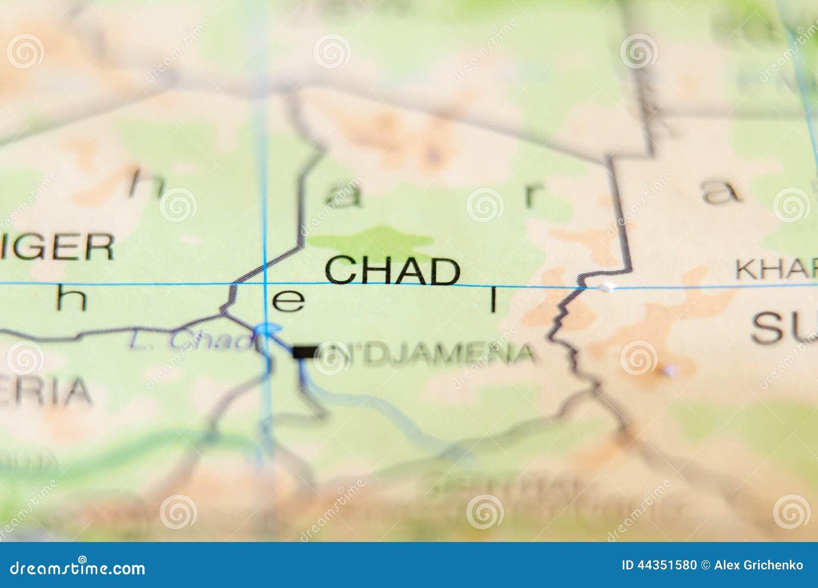 Paese della Repubblica del Chad sulla mappa