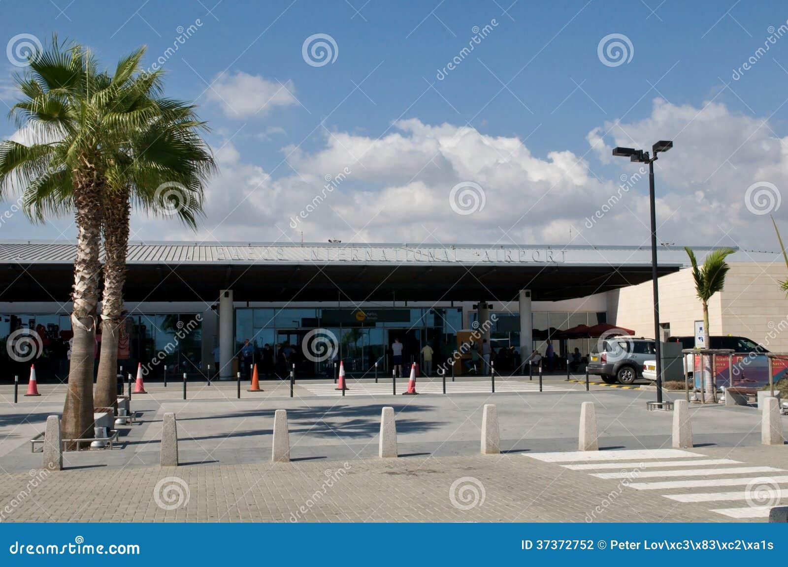 Karta Cypern Flygplats.Pafos Flygplats Cypern Redaktionell Arkivbild Bild Av