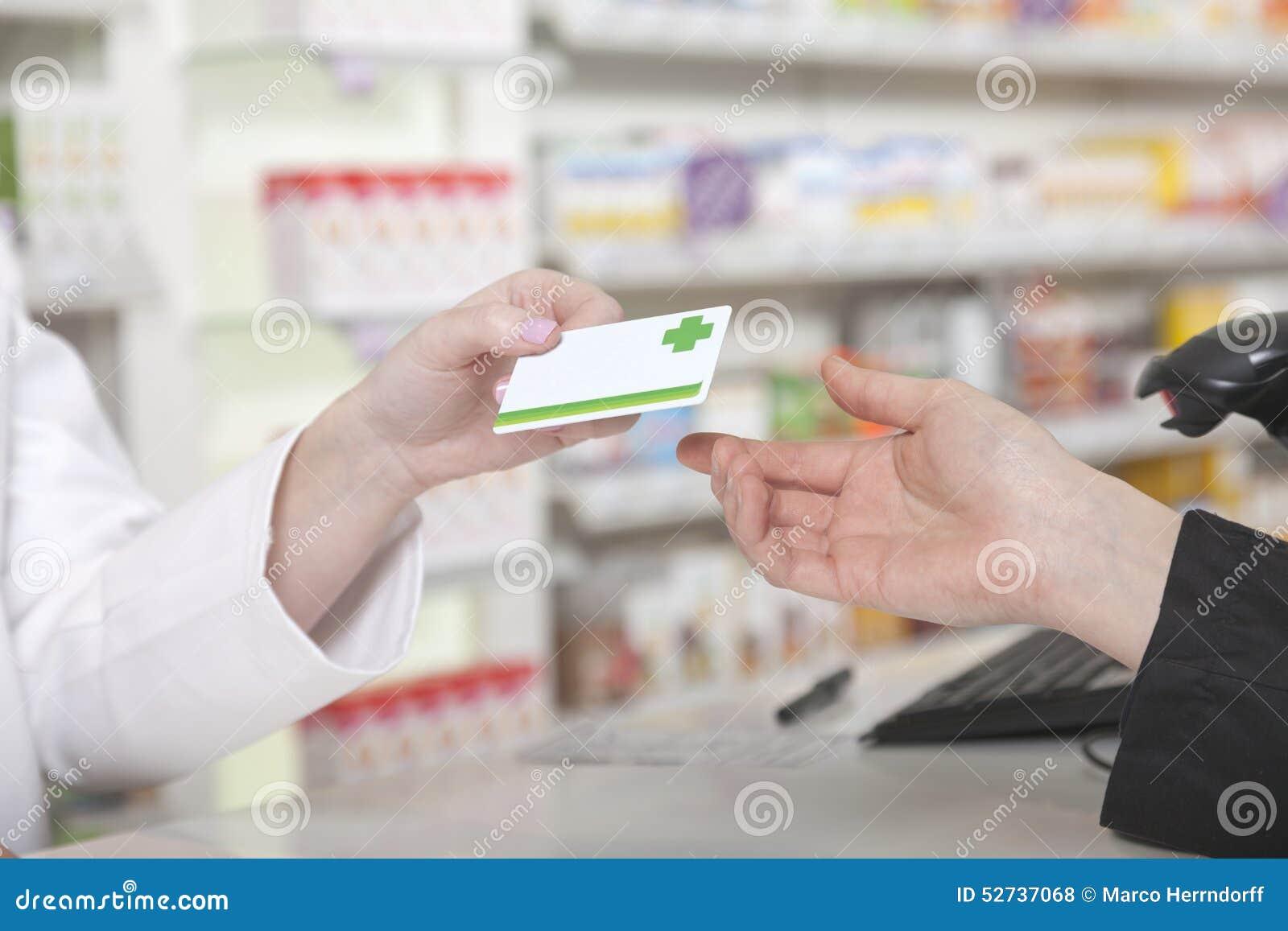 Pagamento della carta in farmacia