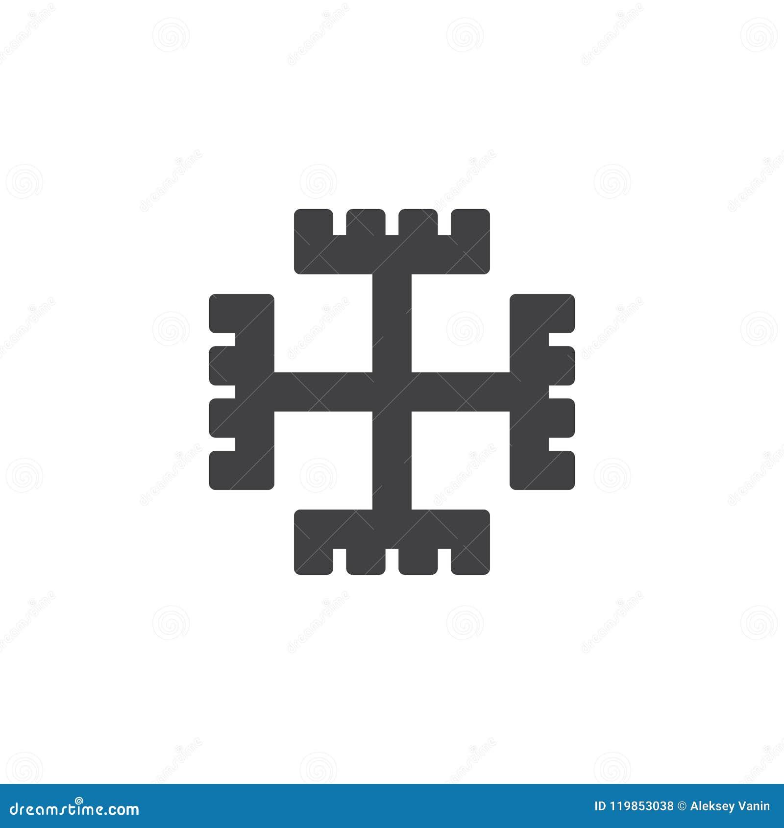 Pagan Cross Vector Icon Stock Vector Illustration Of Logo 119853038