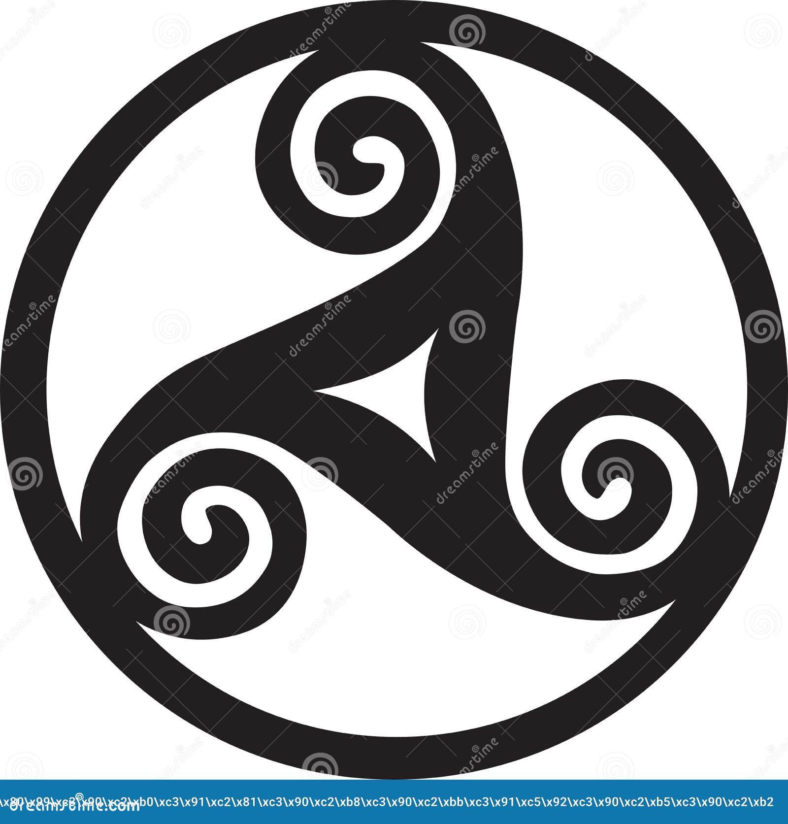 Pagan symbol triskelion stock vector illustration of pagan symbol triskelion buycottarizona Images