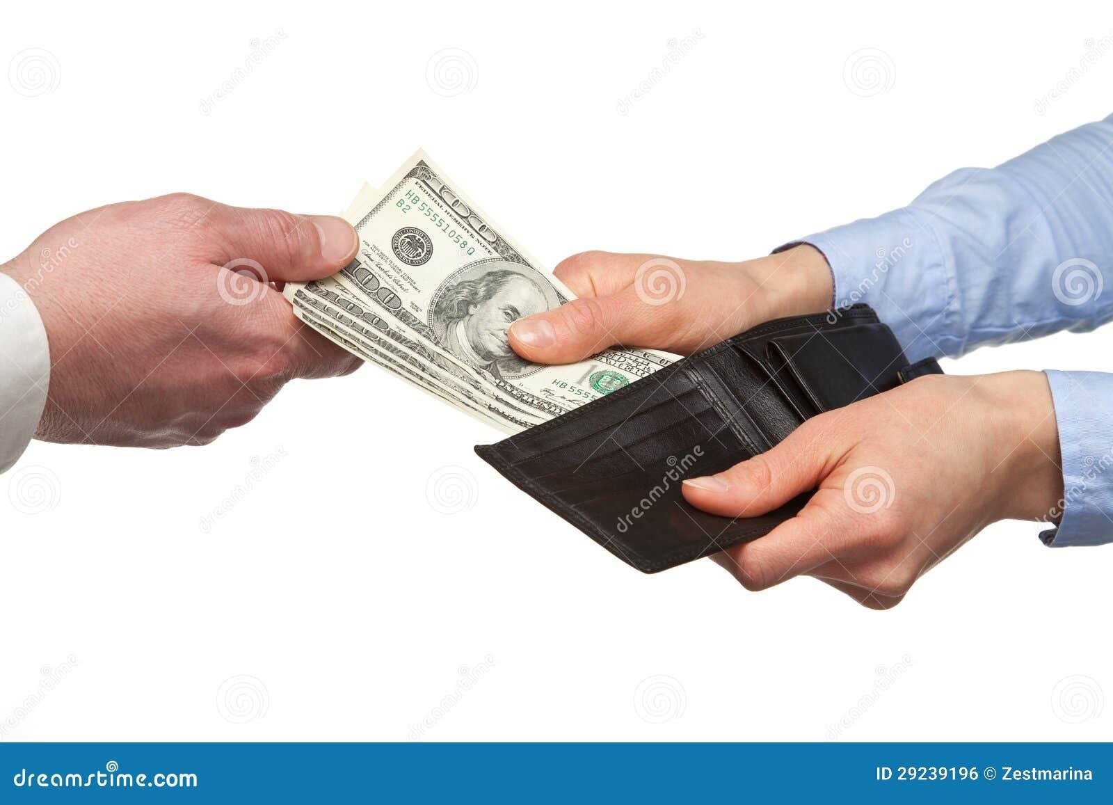 Download Pagando O Dinheiro De Uma Carteira Foto de Stock - Imagem de banking, mão: 29239196