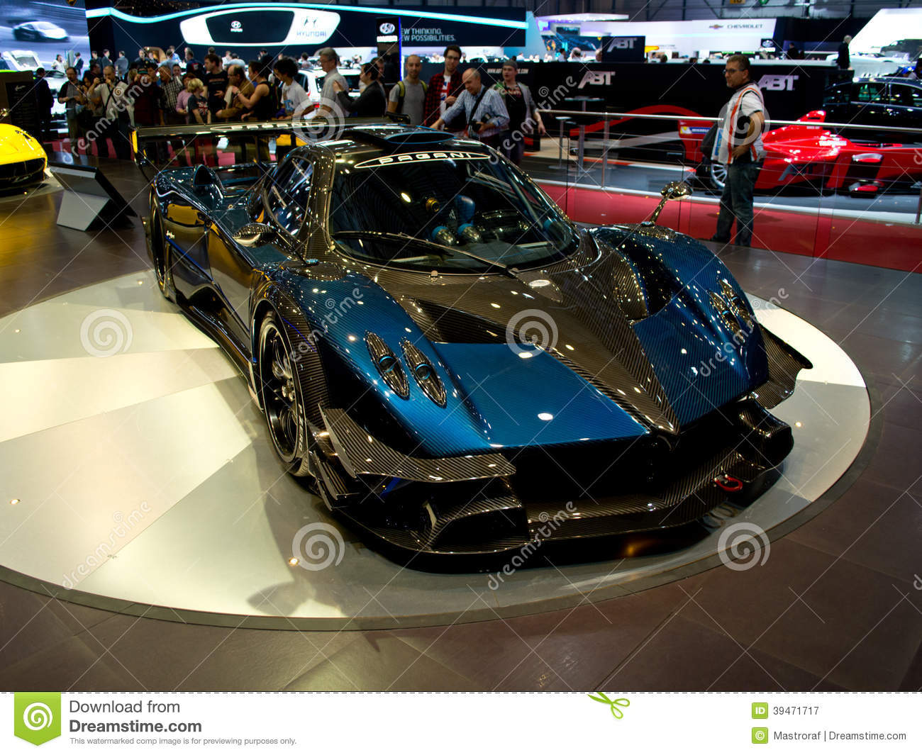 pagani huayra geneva 2014 editorial photography image of racing 39471717. Black Bedroom Furniture Sets. Home Design Ideas