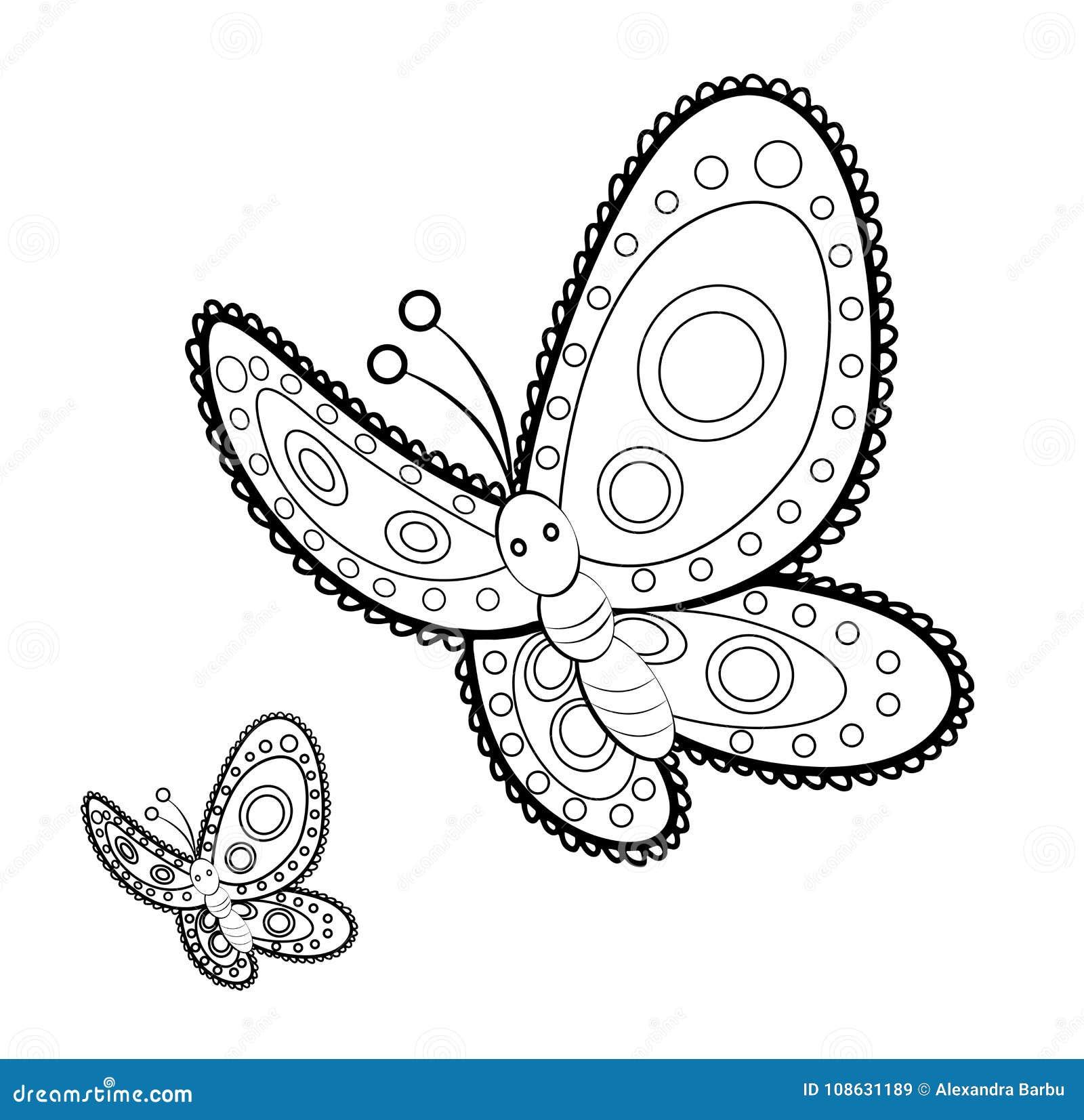 Page Adulte De Coloration D Effort De Mandala De Papillon Anti Illustration De Vecteur Illustration Du Page Coloration 108631189