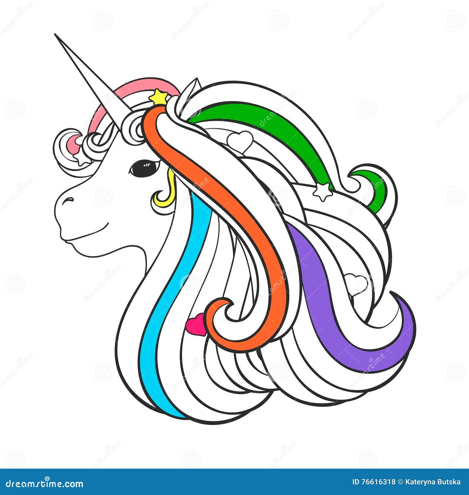 Coloriage Etoile Coeur.Page Adulte De Livre De Coloriage Avec La Licorne Coeur