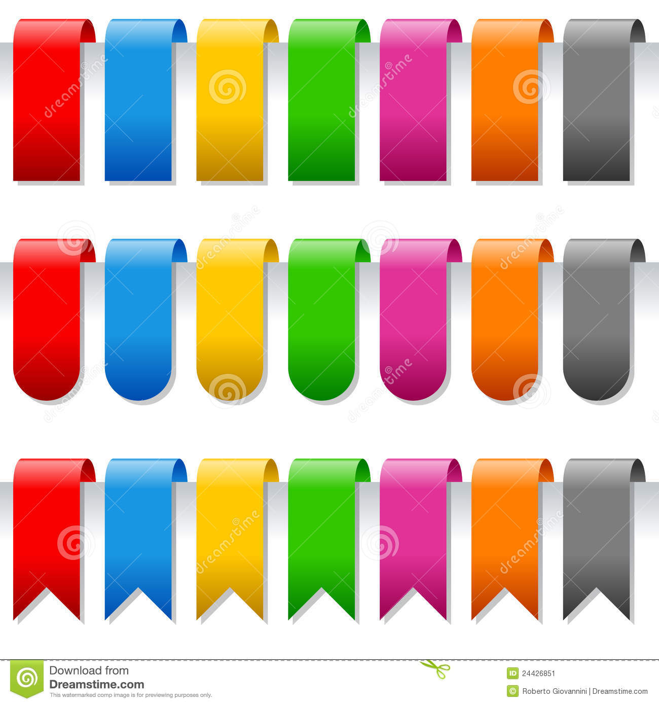 page bookmarks or labels set stock vector illustration of abstract