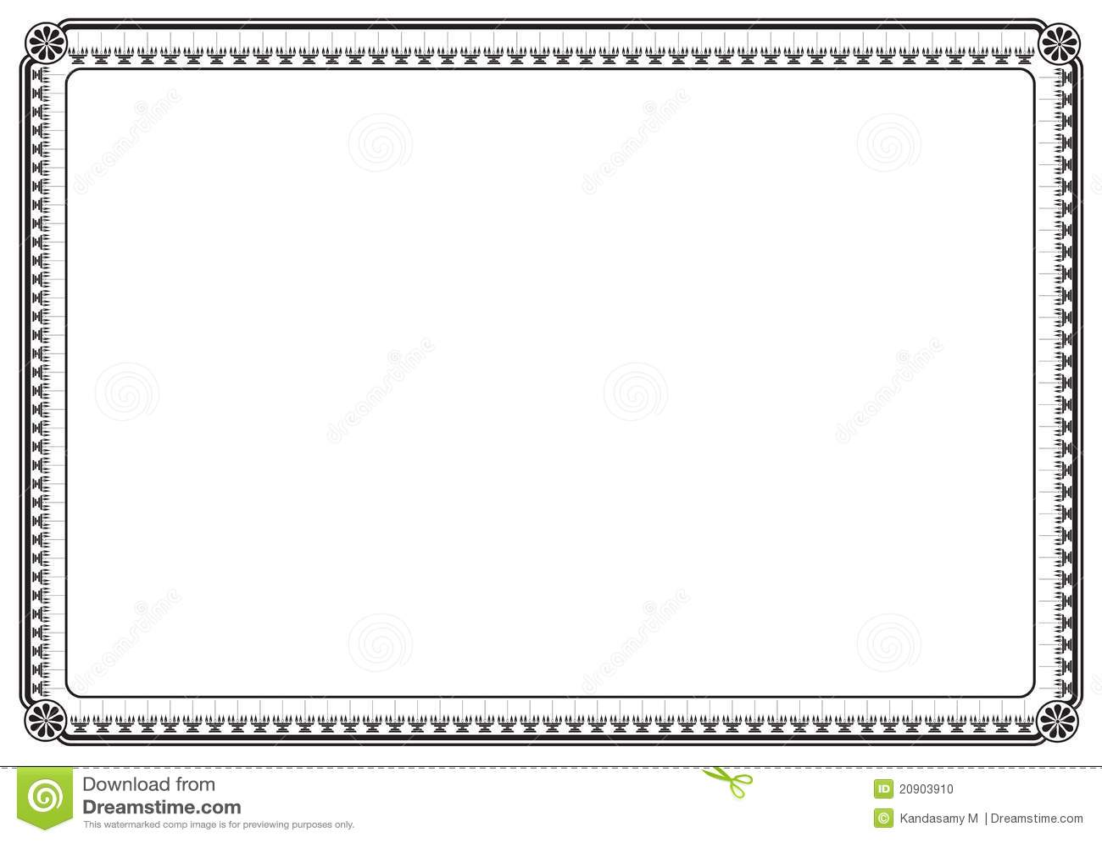 Page border stock illustration. Image of blank, corner ...