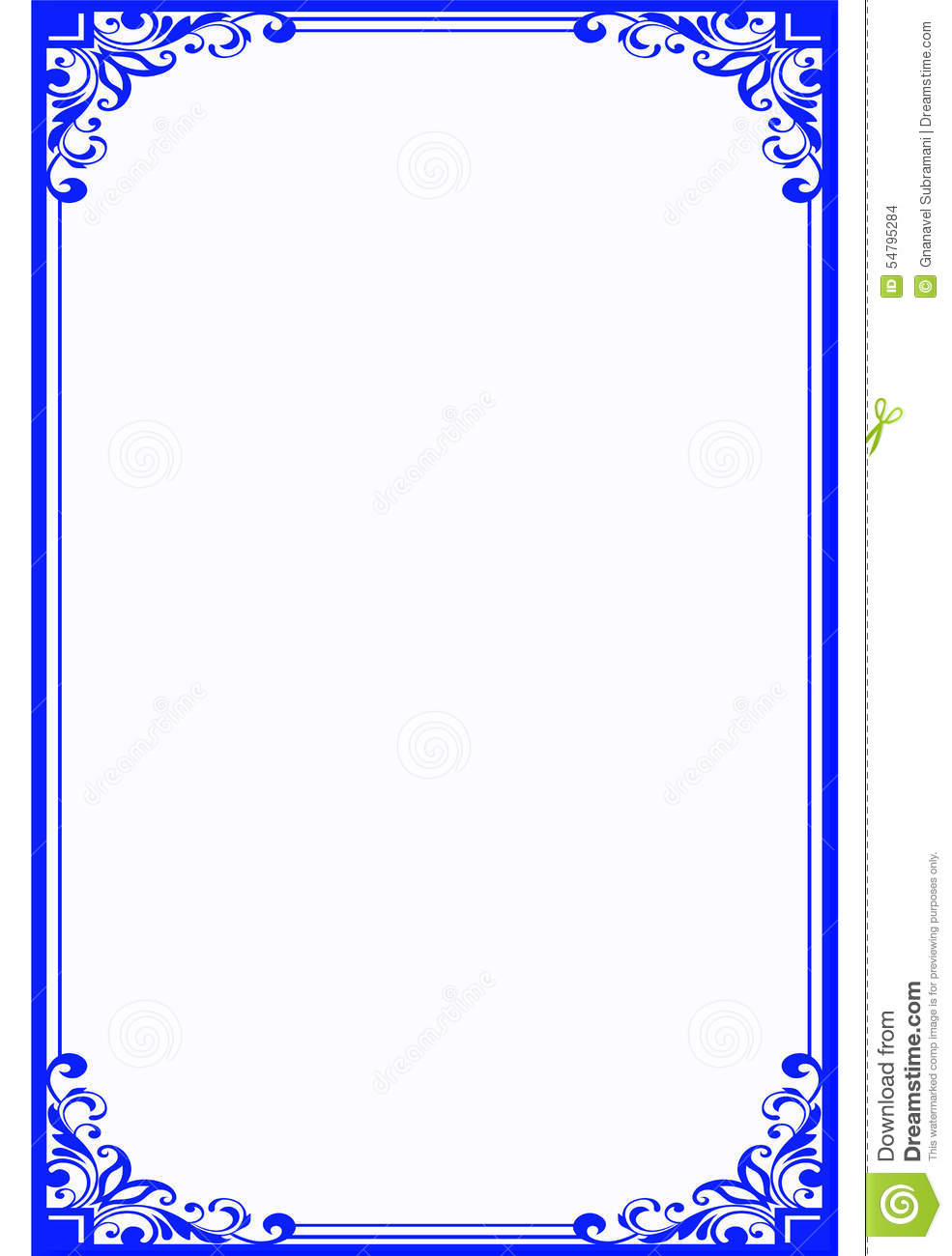 Fancy Blue Page Border | www.pixshark.com - Images ... Fancy Color Border