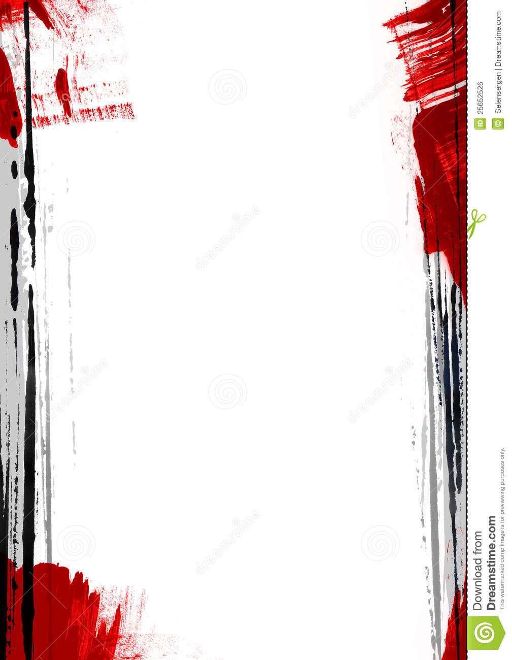 Page Border Painting Royalty Free Stock Image - Image: 25652526