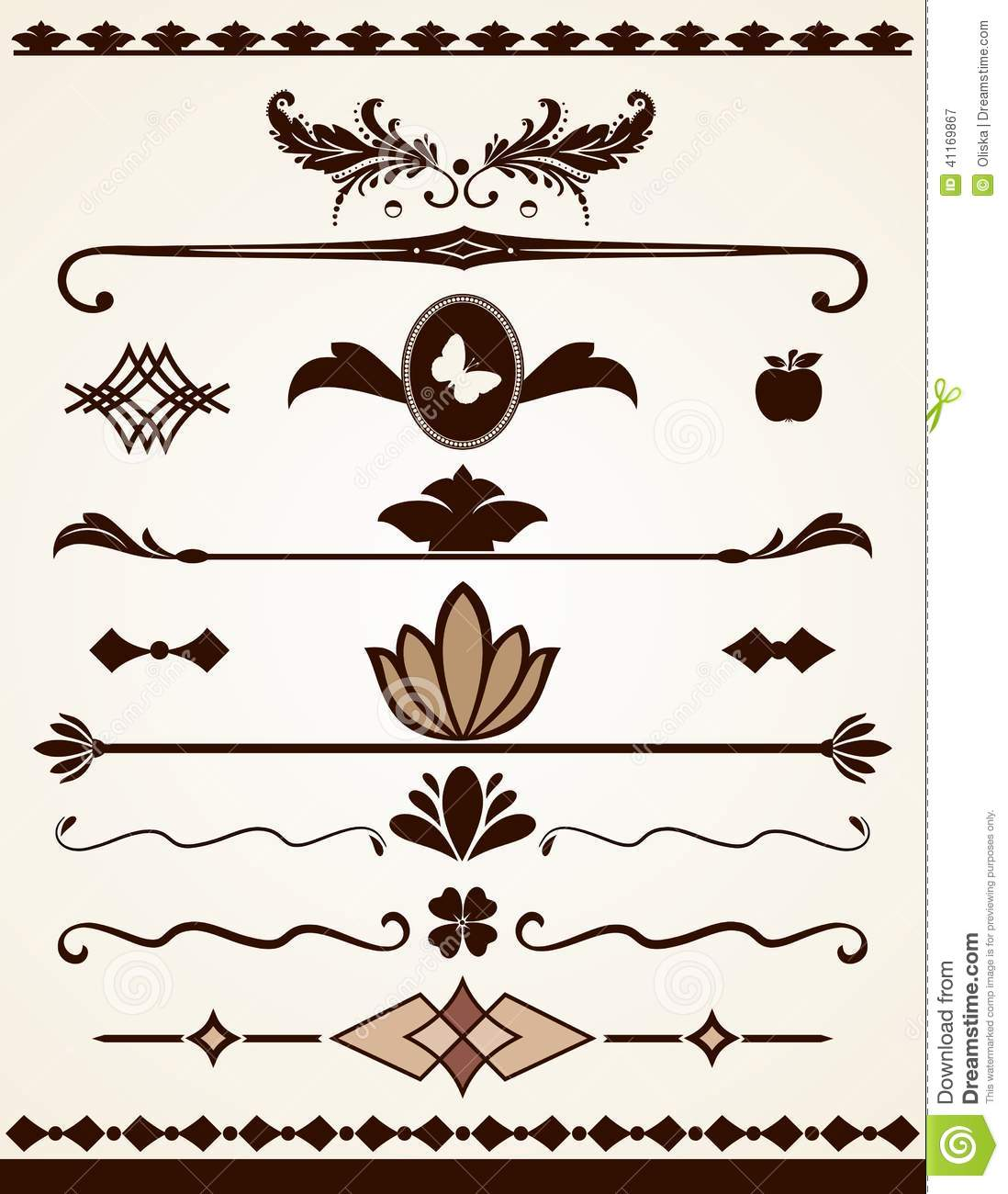 Page borders dividers and decorations stock vector for Decoration page