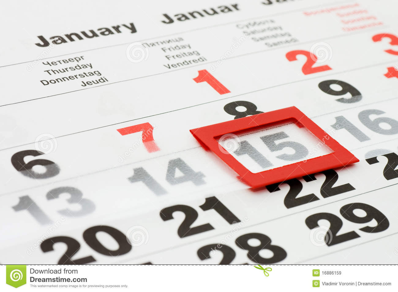 Page Of Calendar Showing Date Of Today Royalty Free Stock Images ...