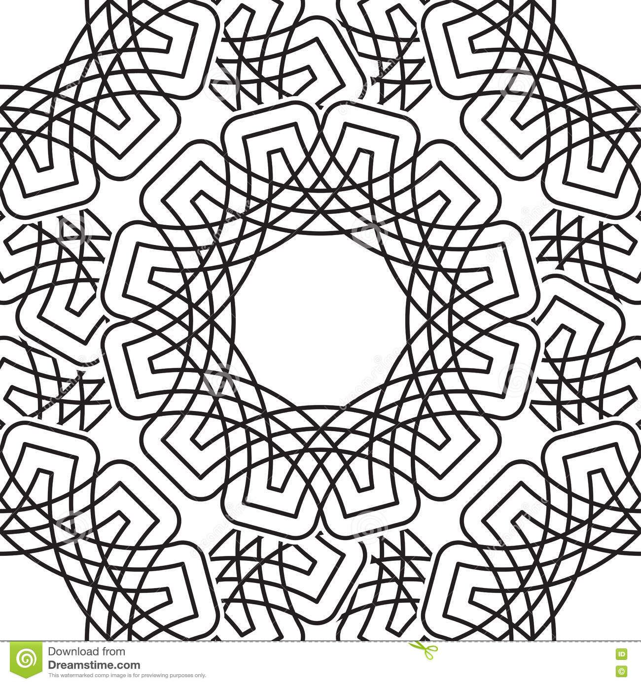 circular coloring pages - ornate cartoons illustrations vector stock images