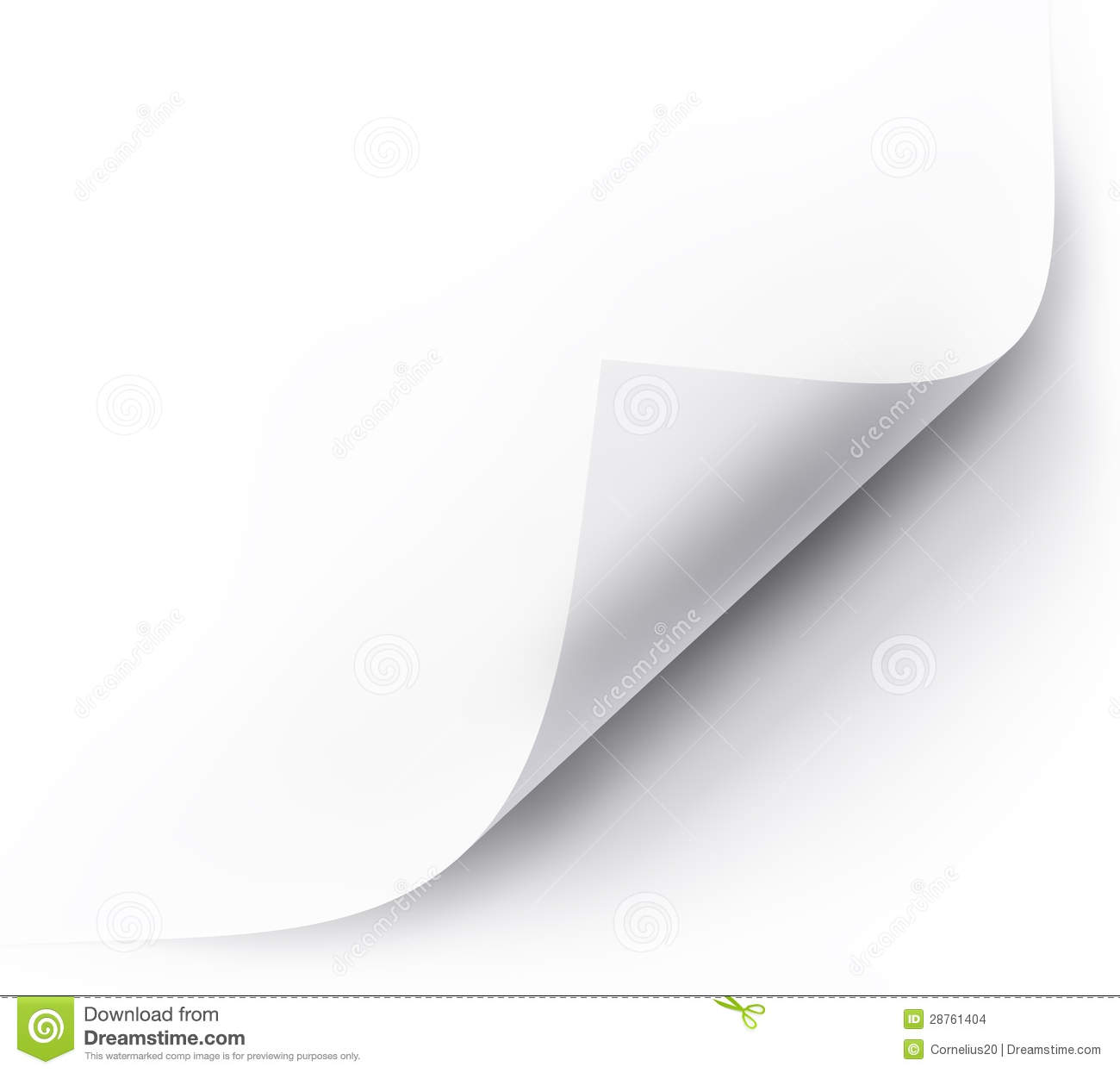 Page Curl Stock Images Image 28761404
