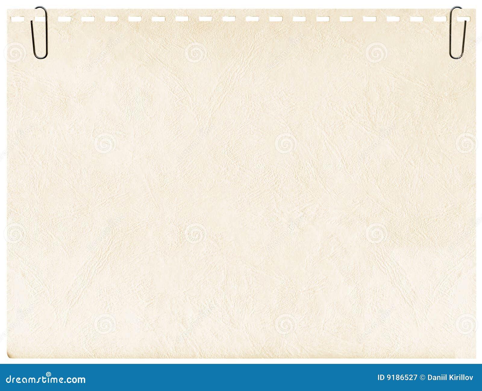 Page de cahier de clip de fond à