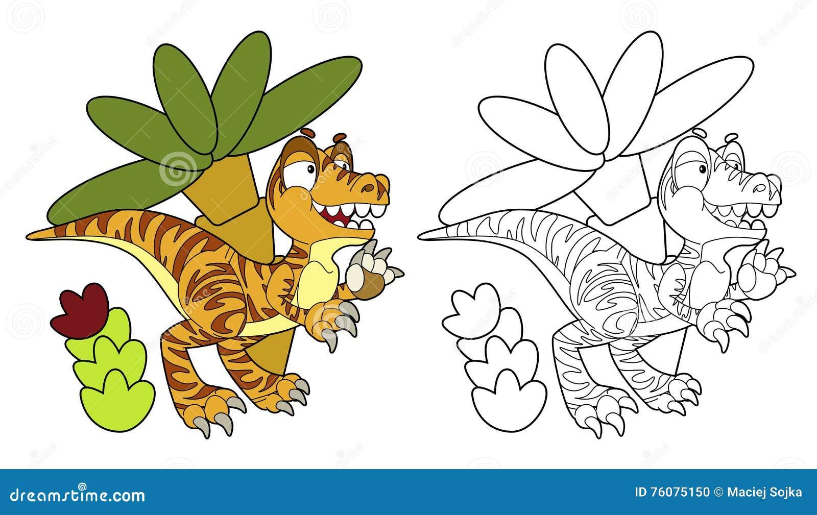 Page de coloration - dinosaure - page de coloration -