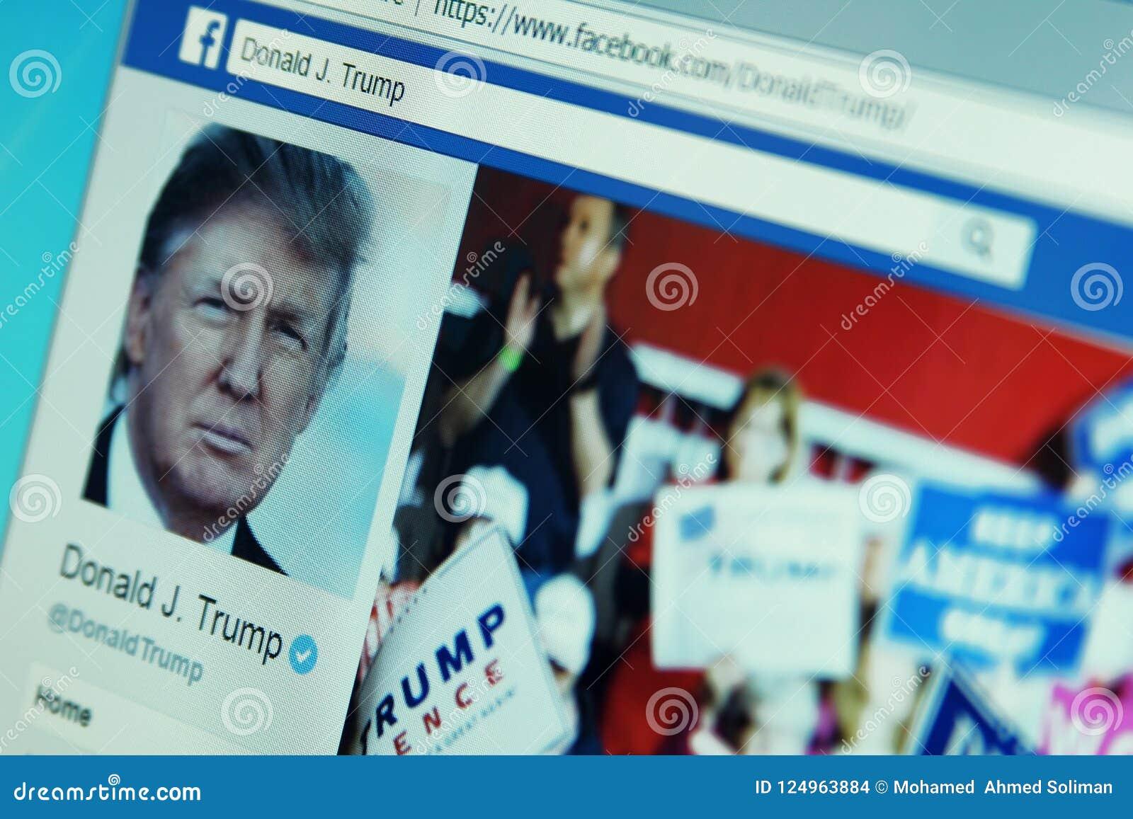 Page de facebook de Donald Trump