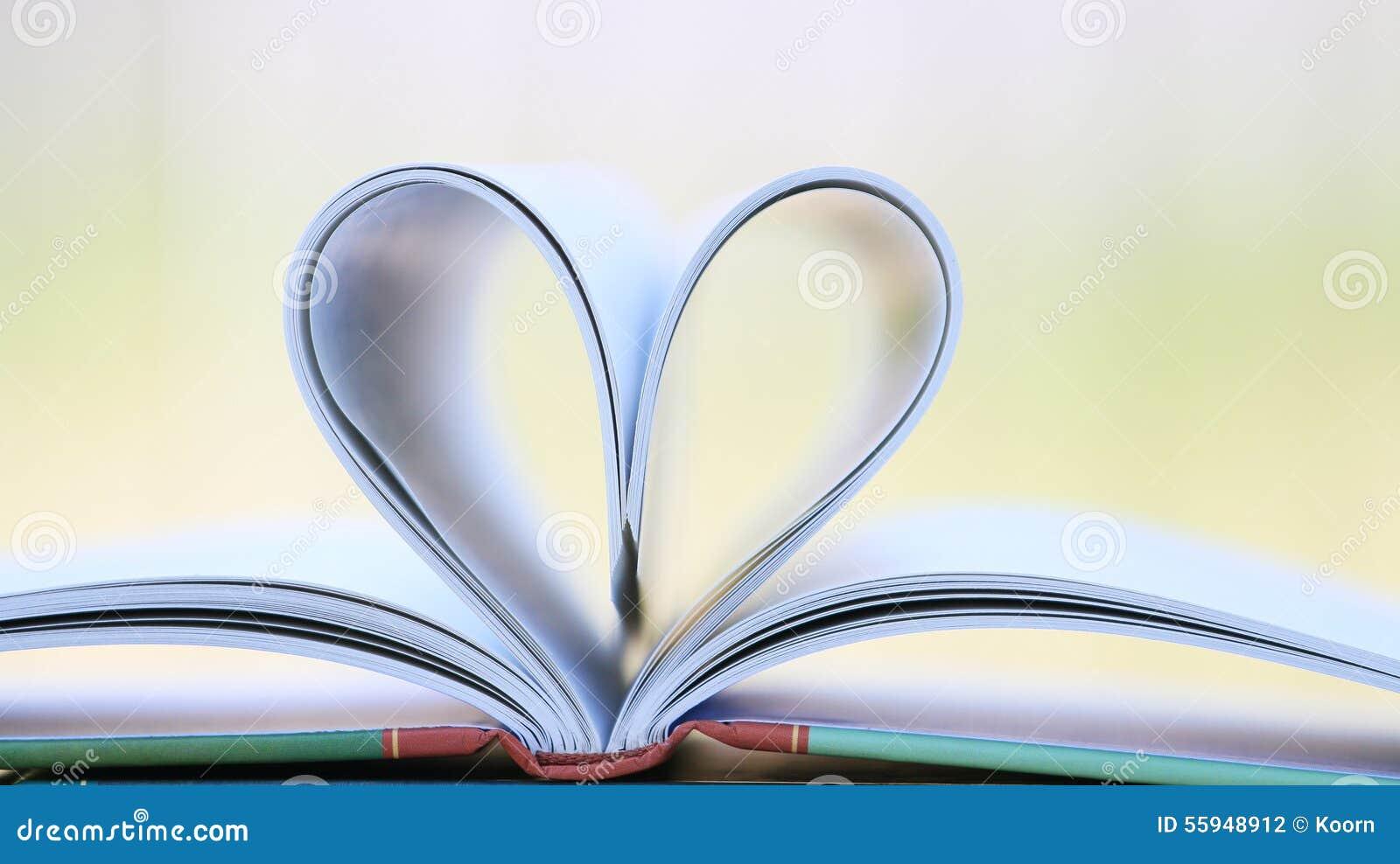 page de livre dans la forme de coeur photo stock image du histoire livres 55948912. Black Bedroom Furniture Sets. Home Design Ideas
