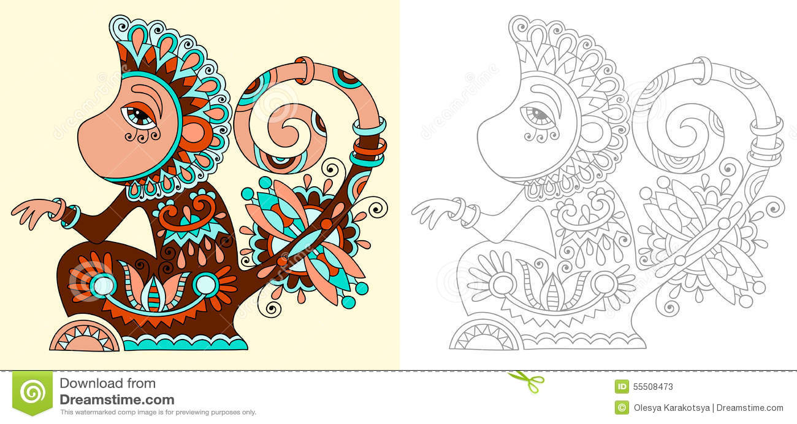 Page de livre de coloriage pour des adultes avec peu commun illustration de vecteur image - Coloriages pour adultes ...