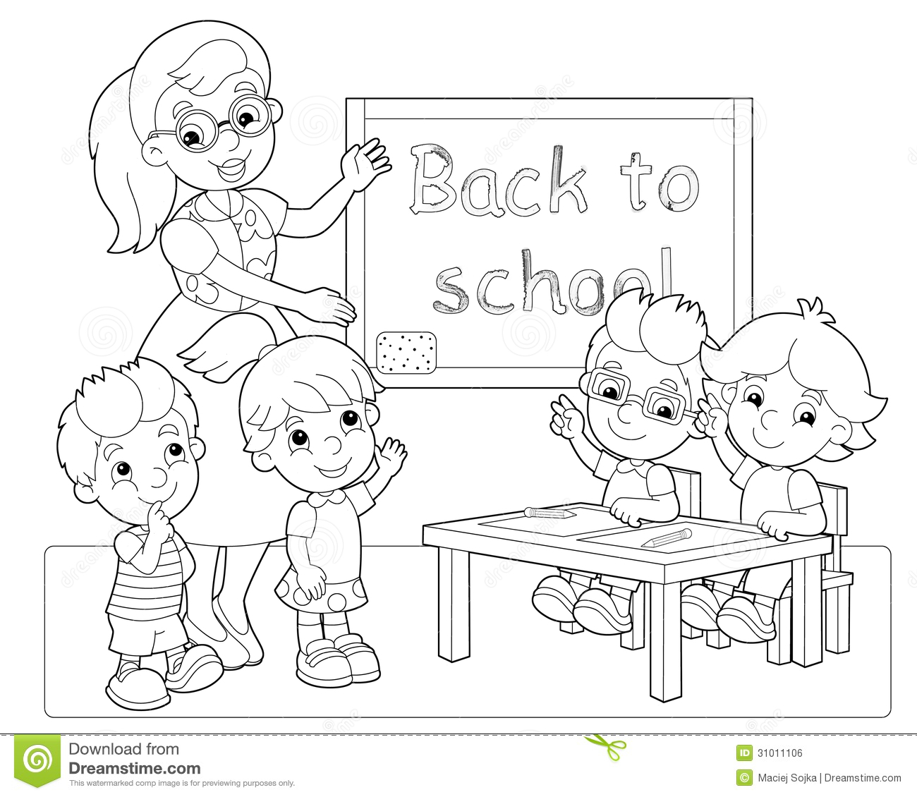 The Page With Exercises For Kids Coloring Book