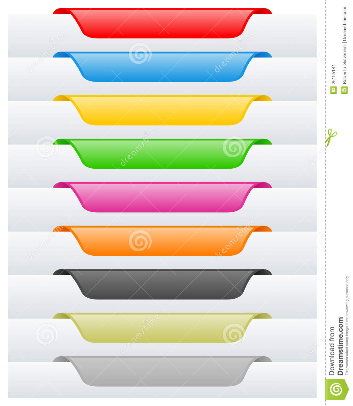 page labels or tags set stock vector illustration of bookmark