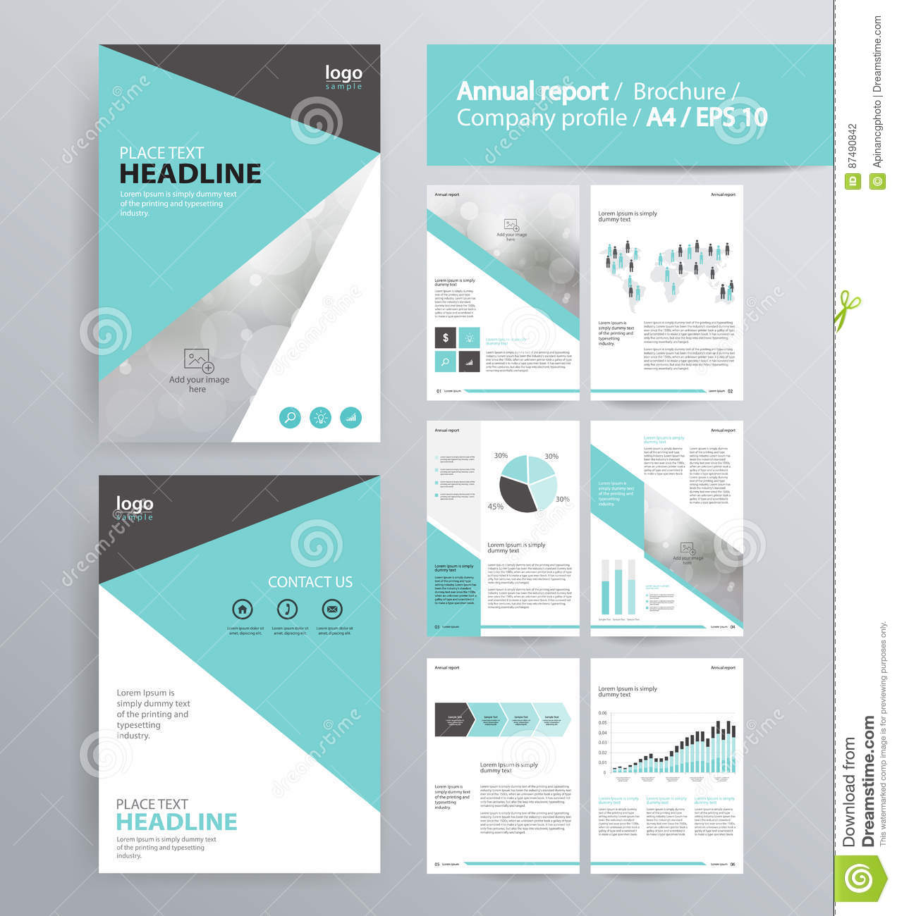Page Layout For Company Profile  Annual Report  Brochure  And Flyer Layout Template  Stock
