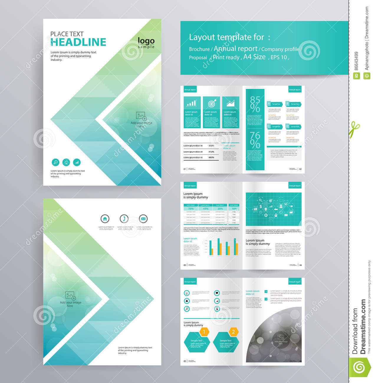 Page Layout For Company Profile Annual Report And Brochure - Company profile brochure template