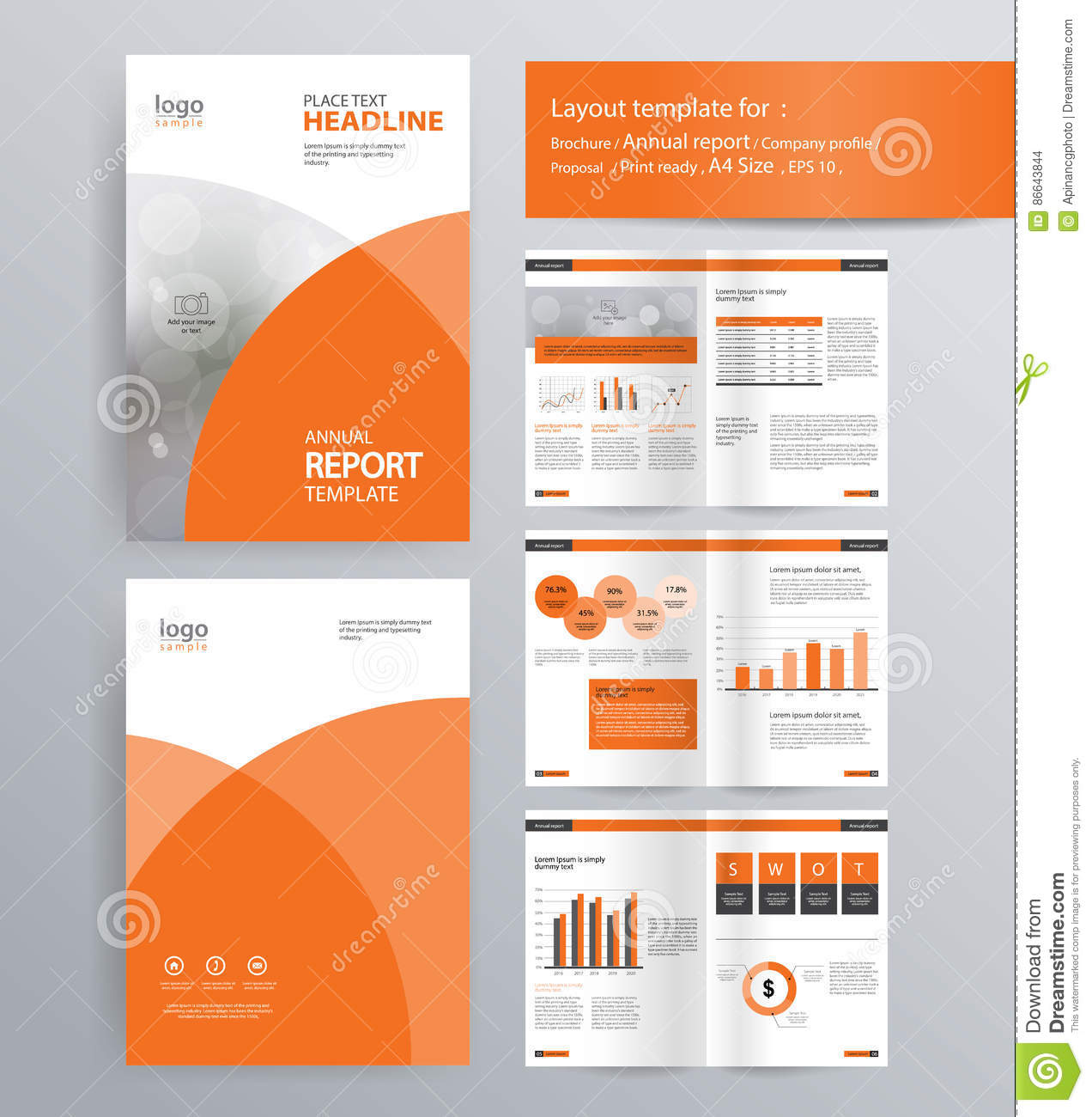 page layout for company profile annual report and brochure template design business