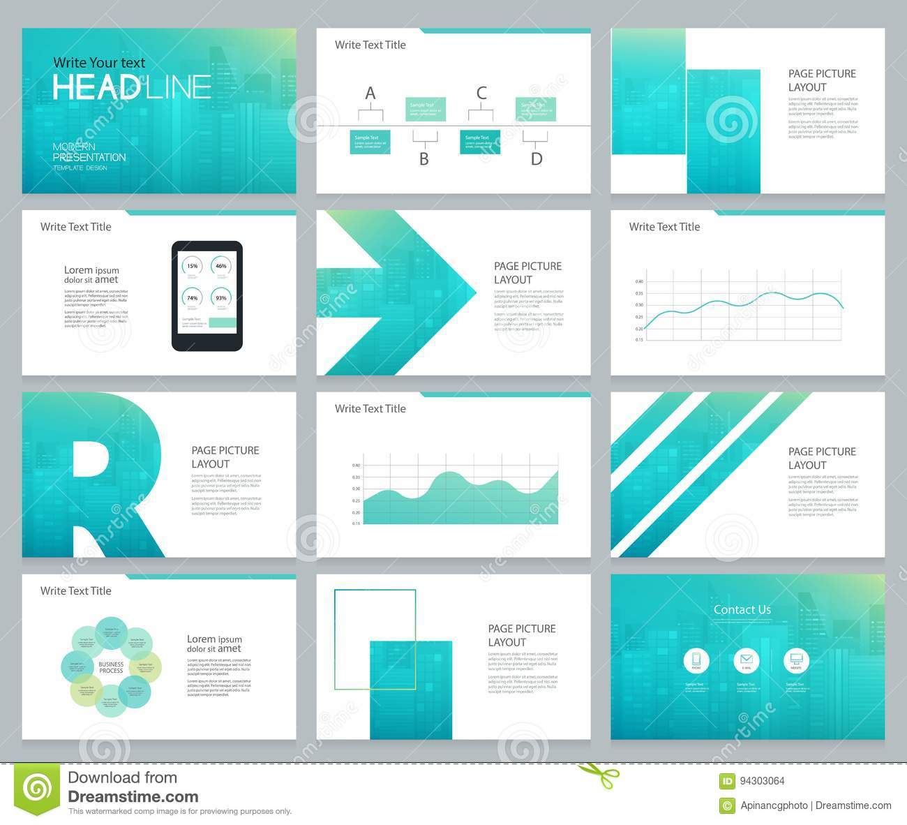 Page Layout Design For Business Presentation And Brochure Stock ...