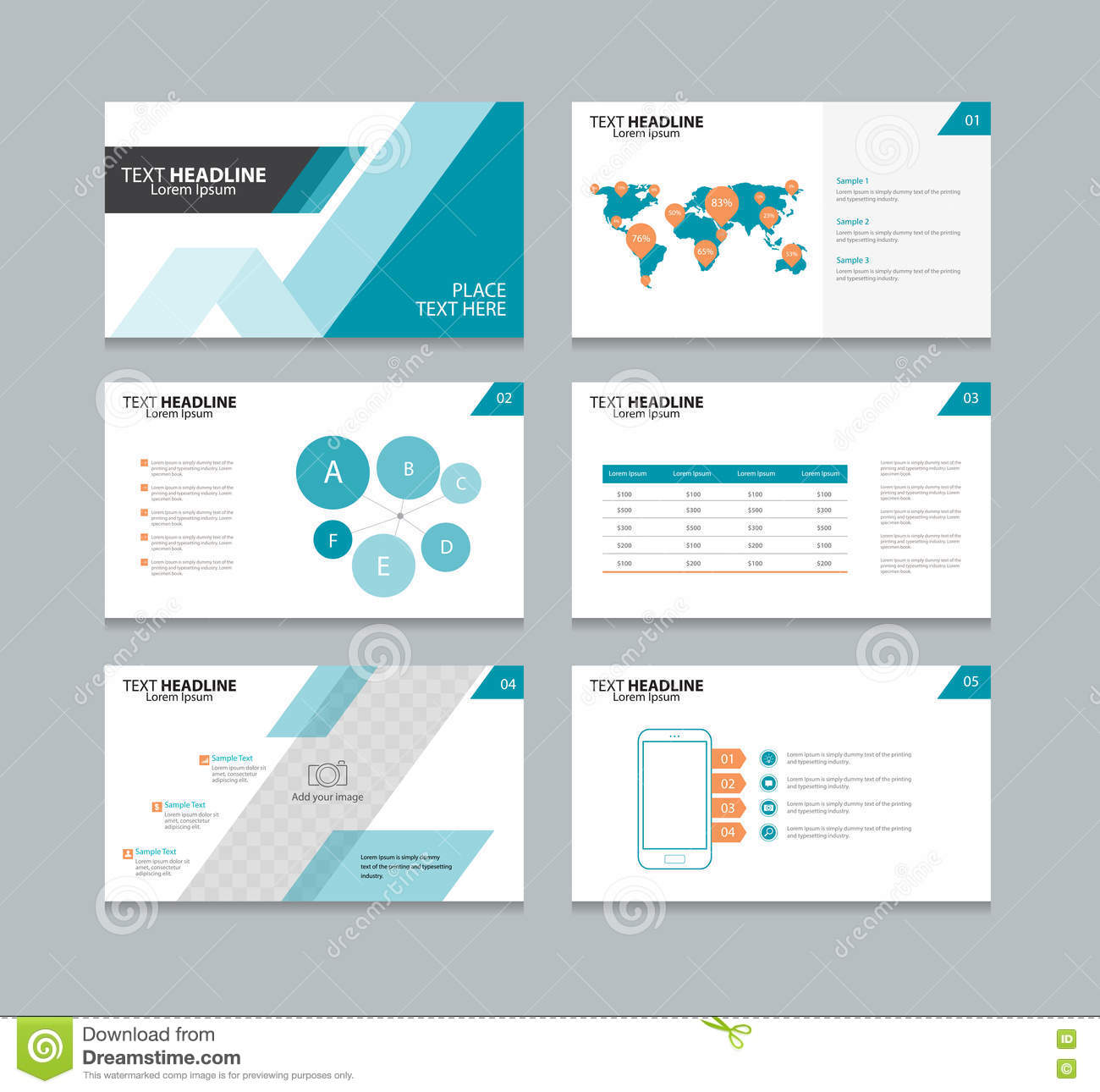 ppt layout blue creative text layout for powerpoint slidemodel