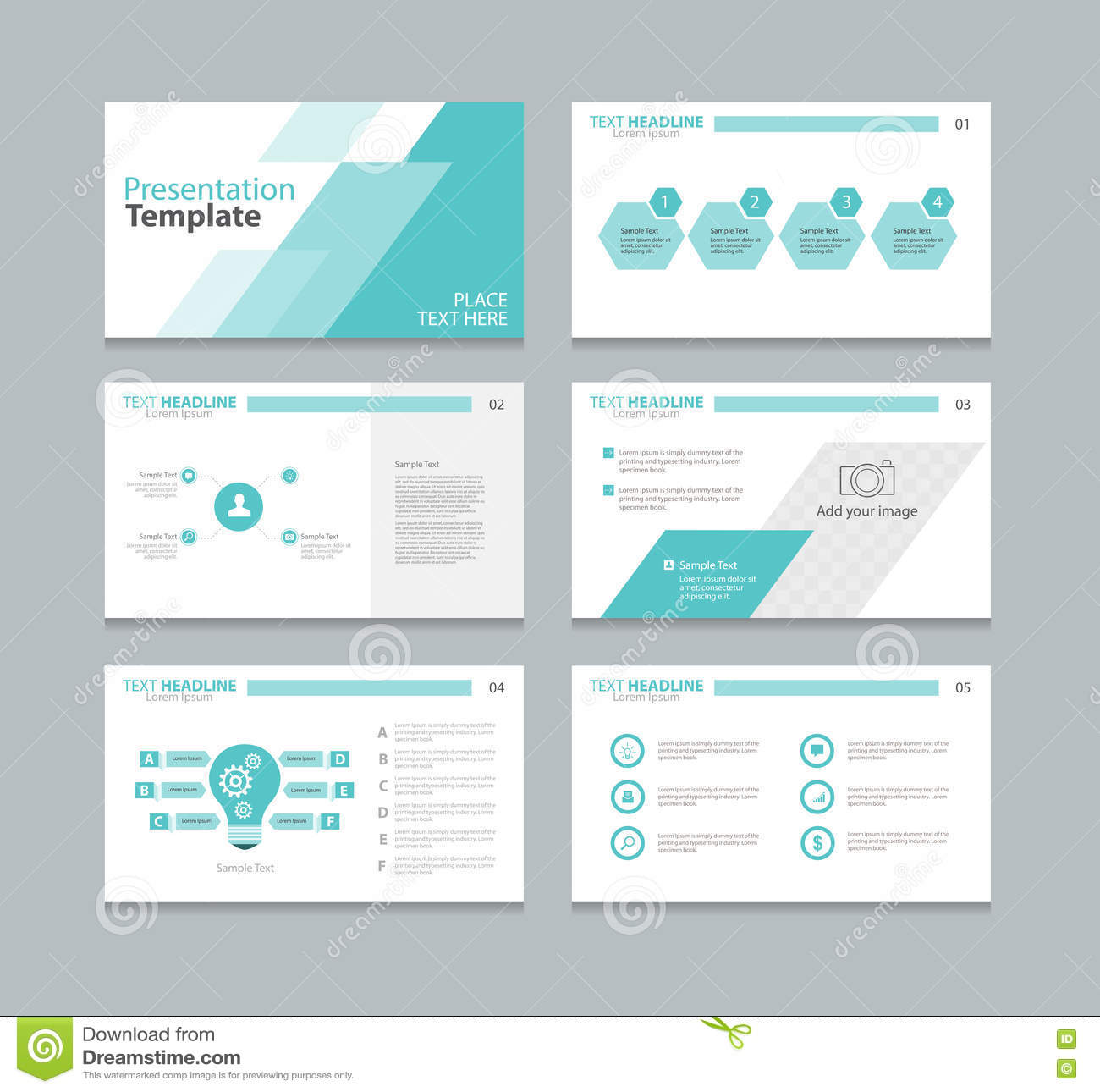 page layout design template for presentation stock vector - image, Powerpoint templates