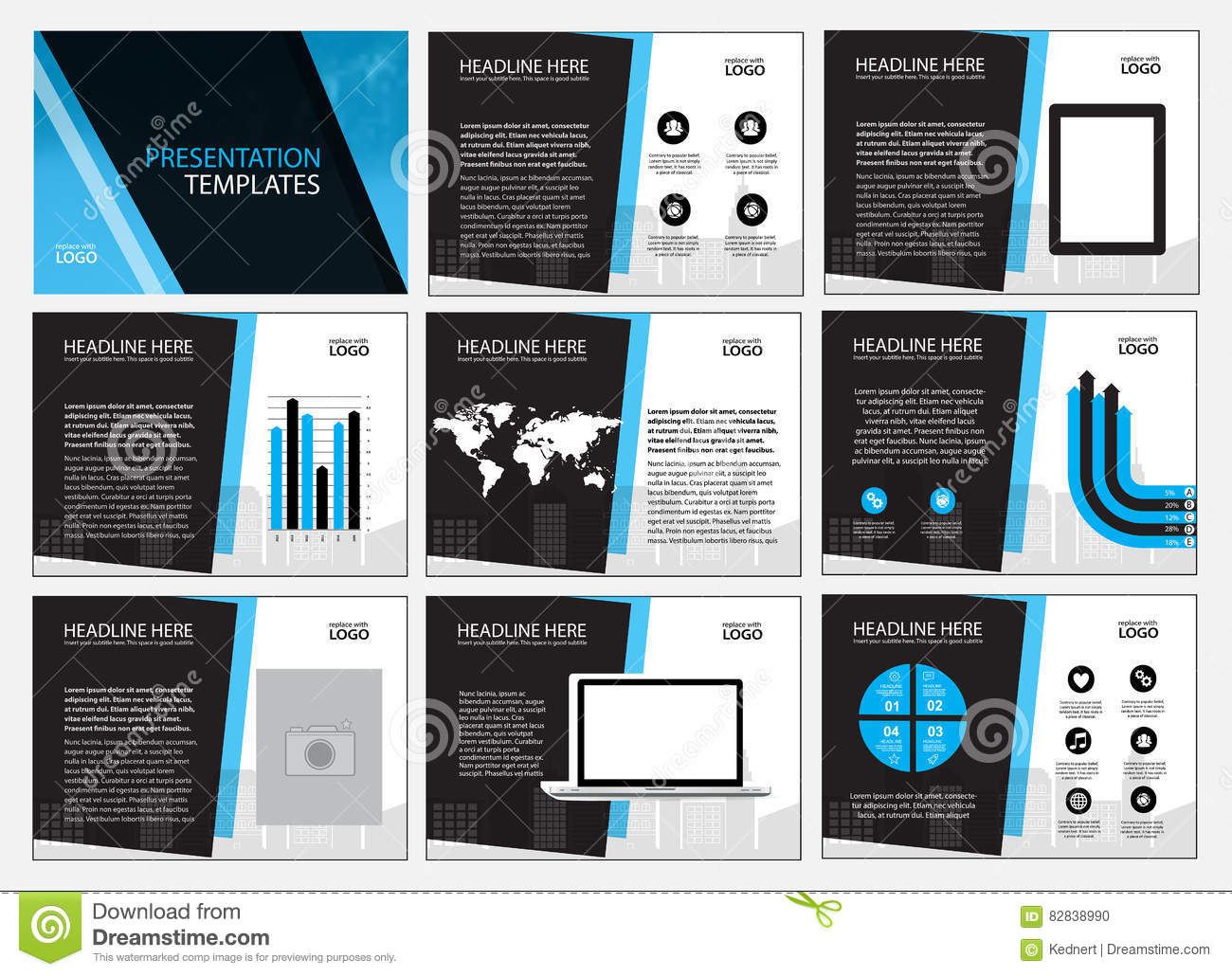 Page Layout Design Template For Presentation And Brochure