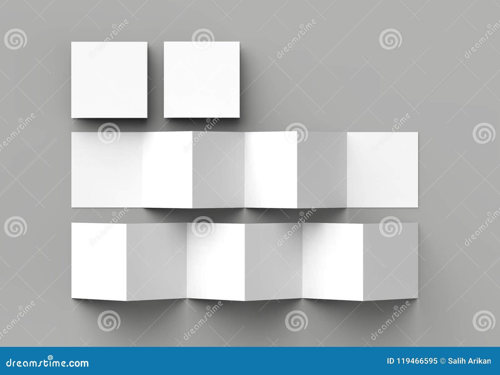 12 page leaflet, 6 panel accordion fold - Z fold square brochure