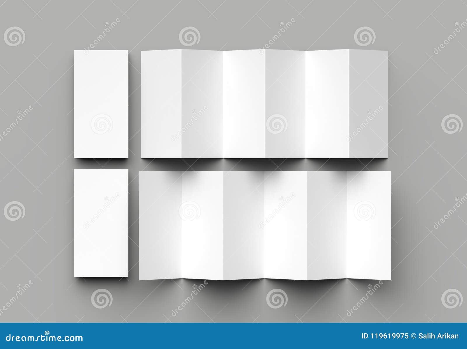 12 Page Leaflet 6 Panel Accordion Fold Z Fold Vertical Brochu