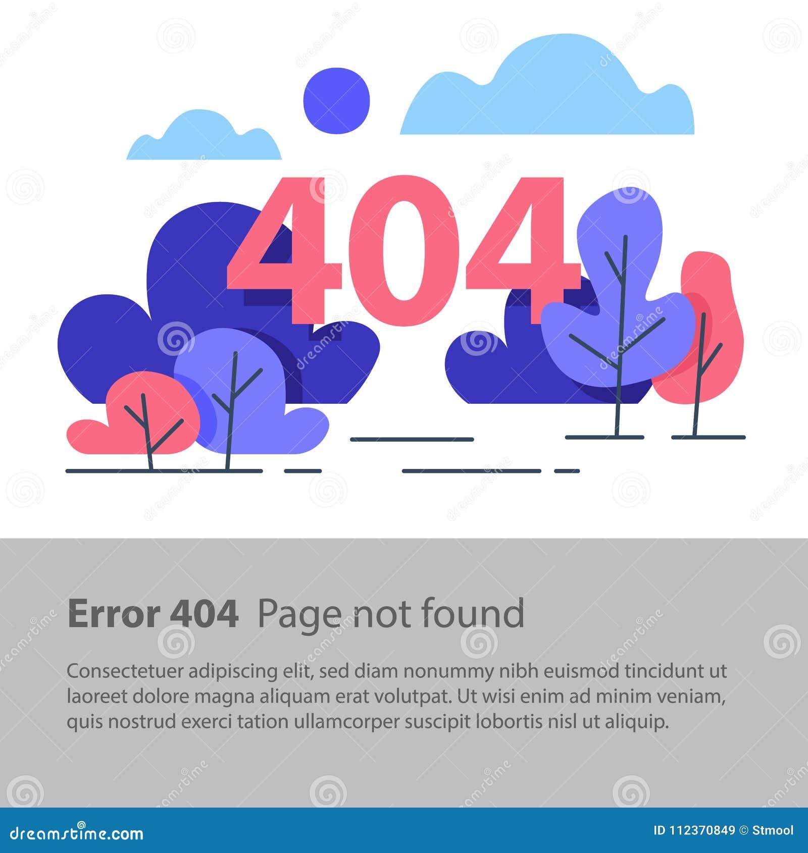 Page Non Trouvée, Erreur 404, Bannière De Web, Illustration
