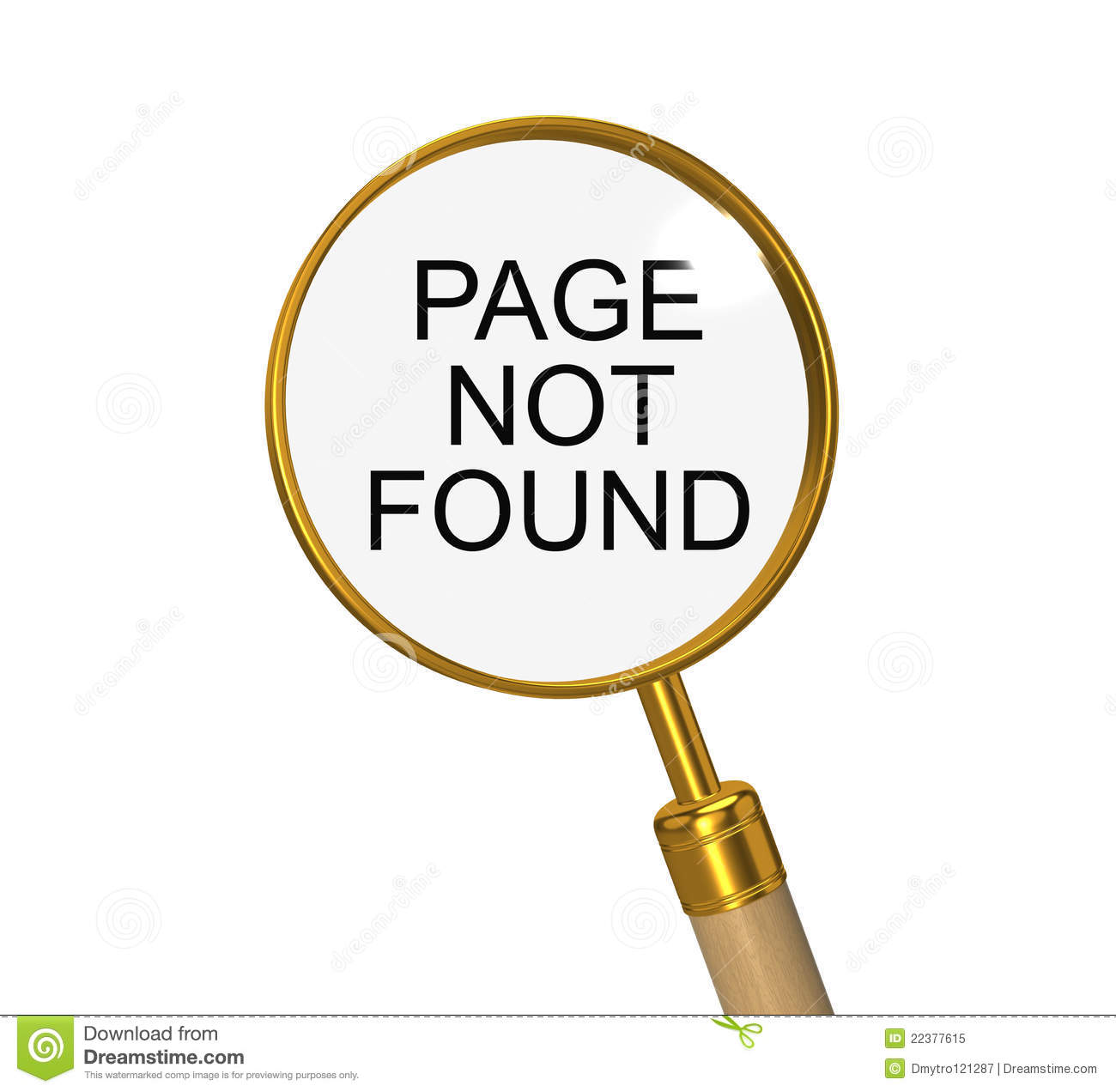 Page Not Found  3d Illustration On The White Royalty Free