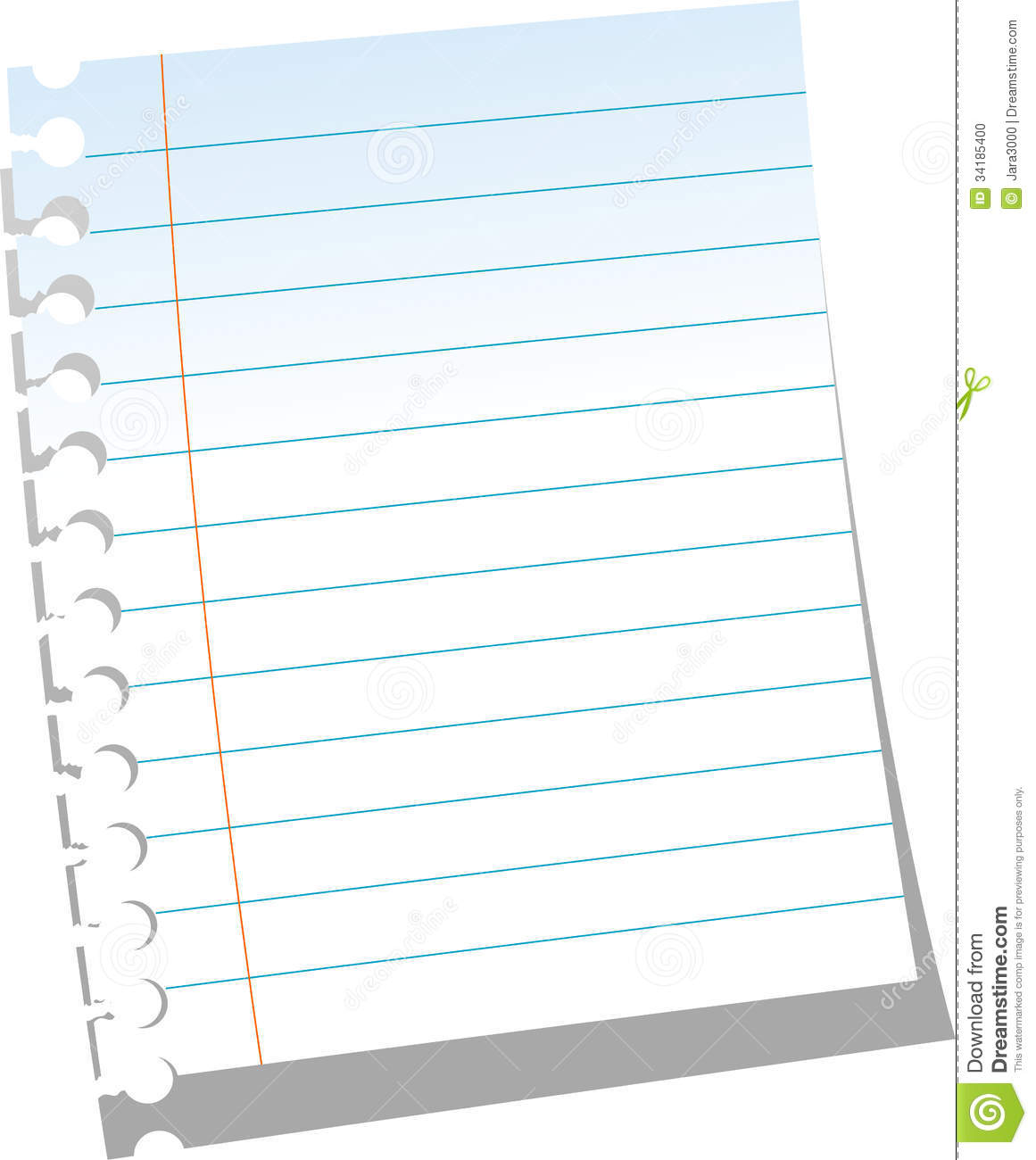 page of notebook stock photo image 34185400