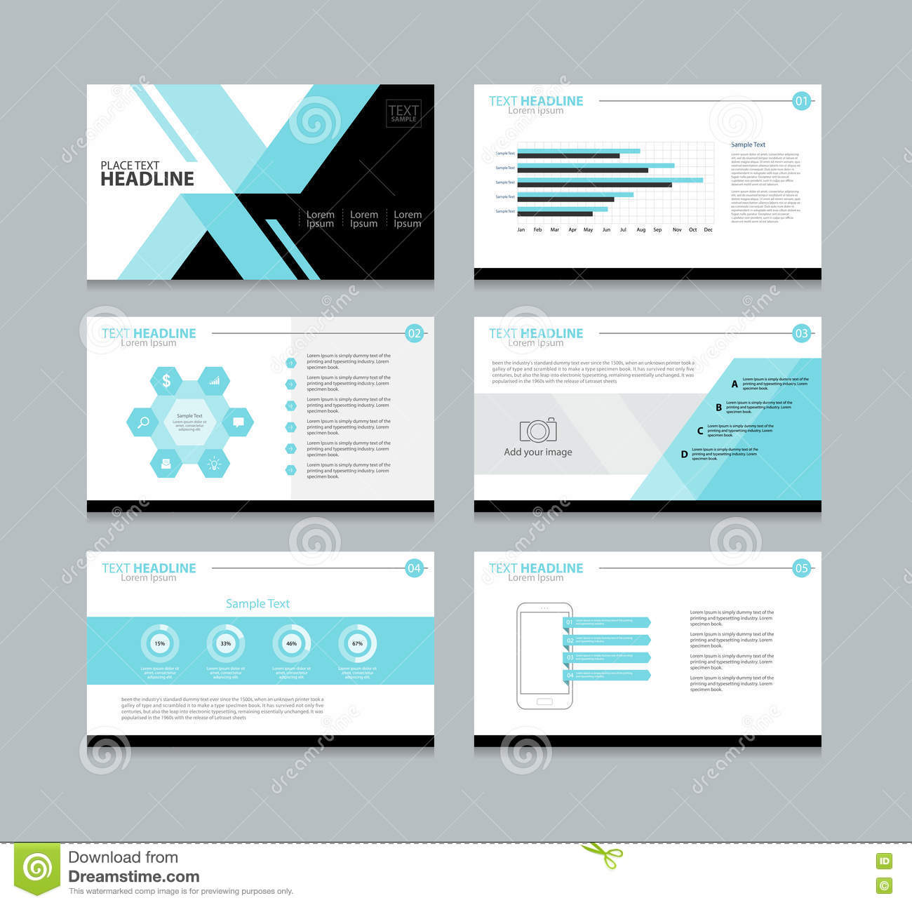 page presentation layout design template stock vector illustration