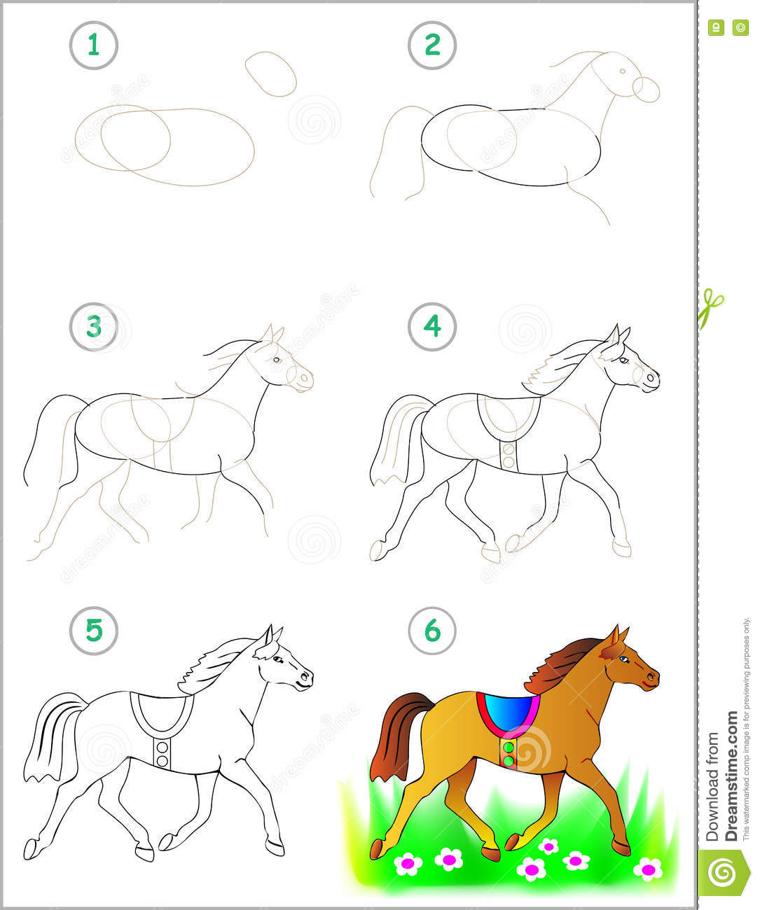 Draw Drawing Horse How