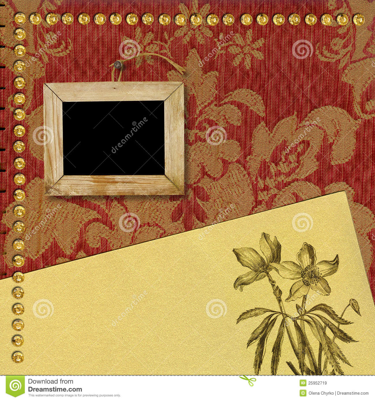 the page template for a photo book album stock illustration