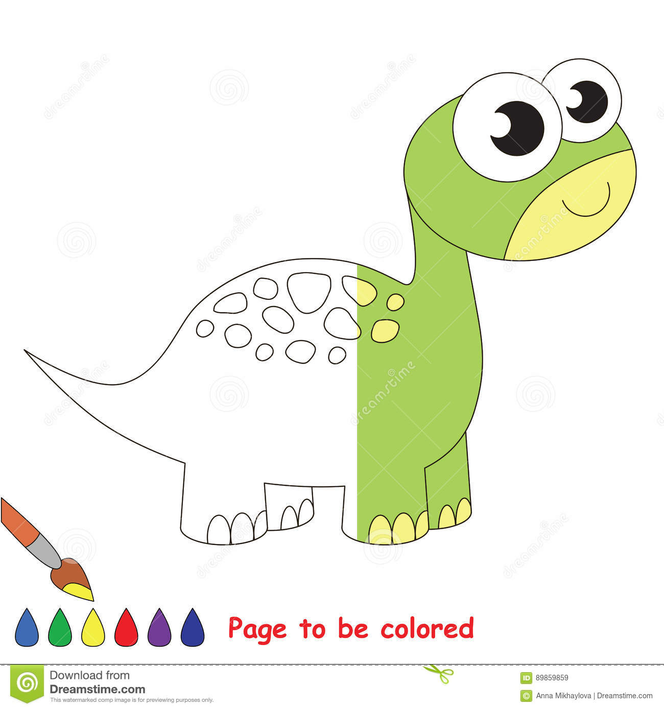 Page to be colored. stock vector. Illustration of primitive - 89859859