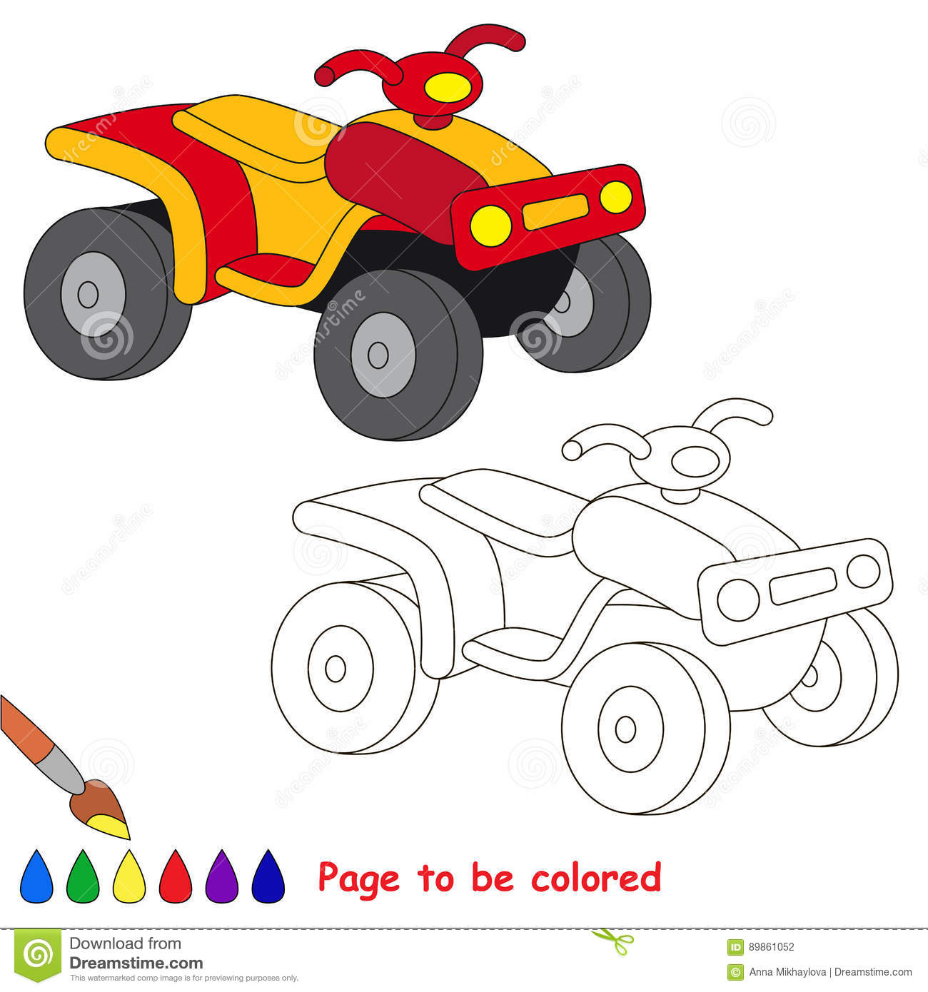 Page to be colored. stock vector. Illustration of white - 89861052