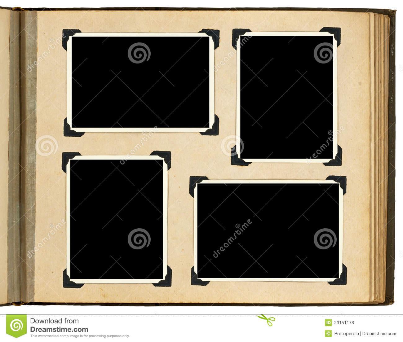 page of vintage photo album stock photo image of open. Black Bedroom Furniture Sets. Home Design Ideas