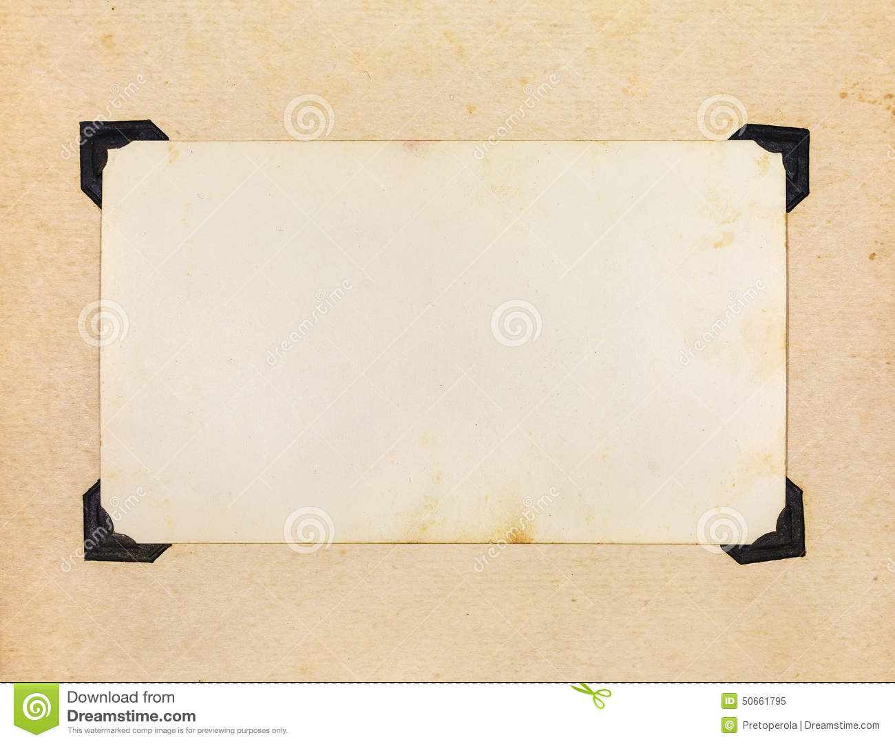 Photo Page: Page Of Vintage Photo Album Stock Image