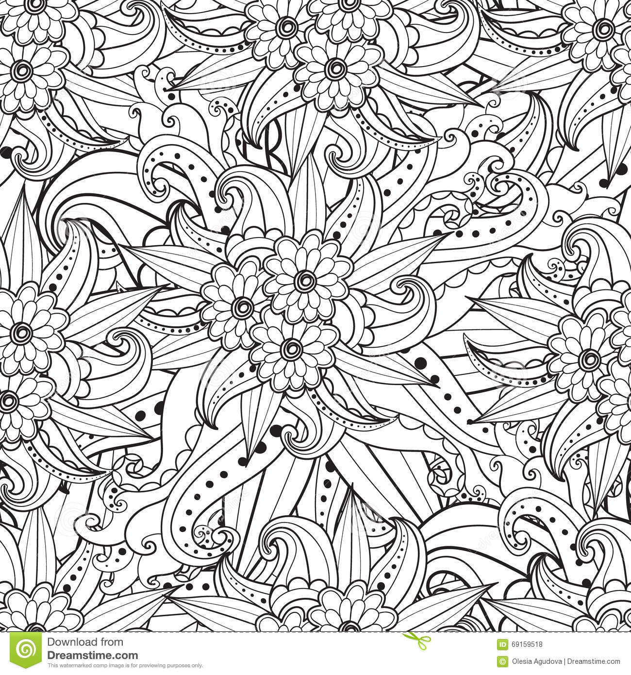 Pages For Adult Coloring Book Hand Drawn Artistic Ethnic